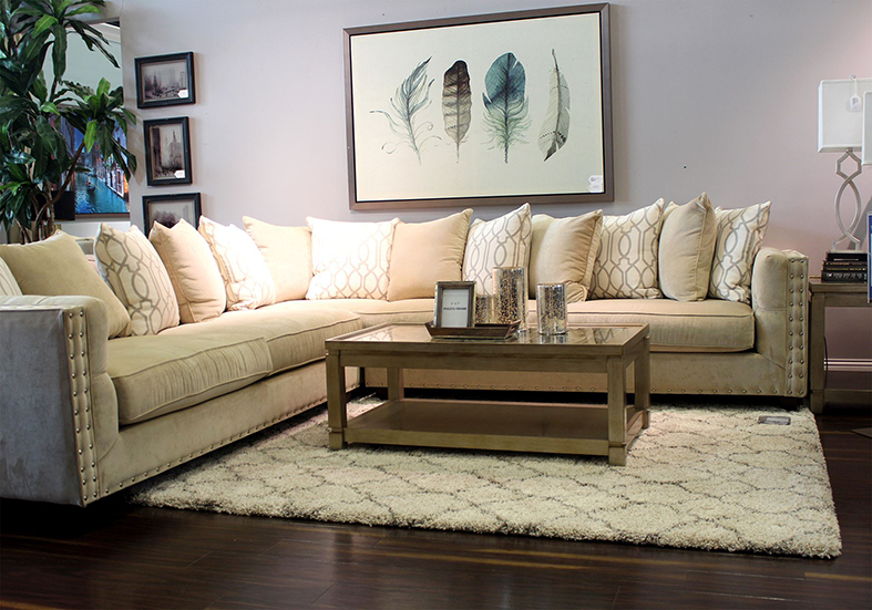 arial cream sectional