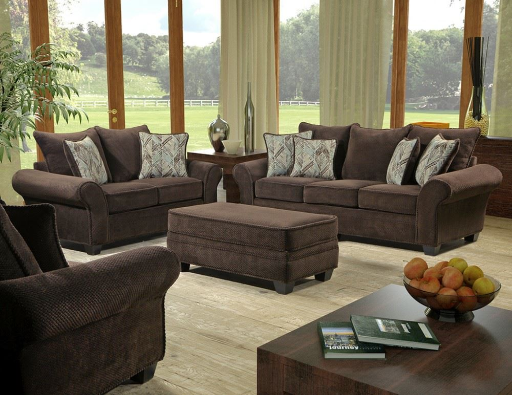ZORAH CHOCOLATE SOFA AND LOVESEAT