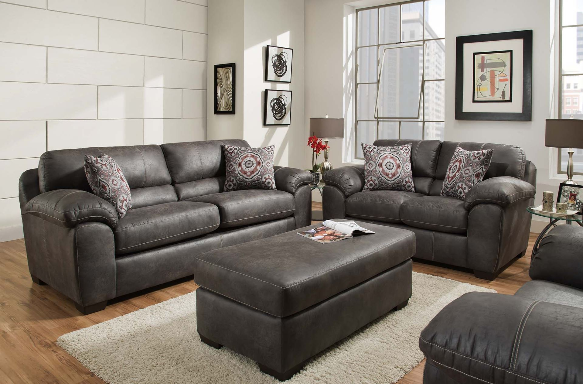 Picture of: Santa Fe Gray Sofa And Loveseat 5400 Only 1 699 00 Houston Furniture Store Where Low Prices Live
