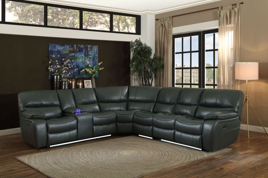 LUXOR GREY RECLINING SECTIONAL