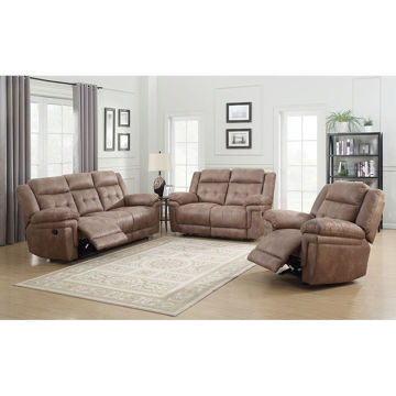Picture of ANASTASIA COCOA RECLINING SET - 850