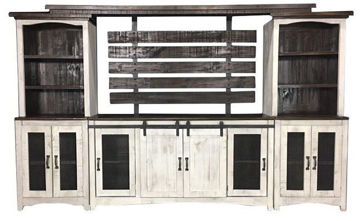 Picture of MESH WHITE ENTERTAINMENT CENTER - 1035