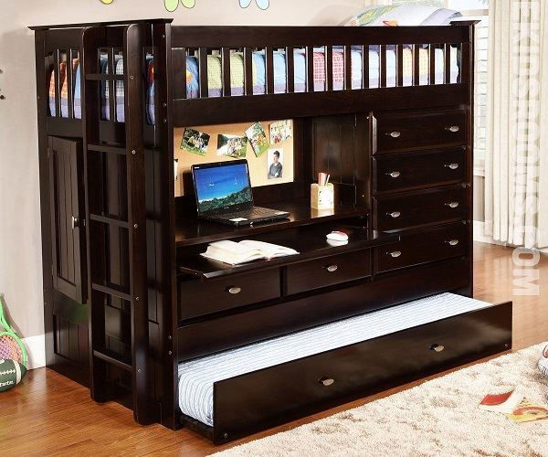 Picture of TWIN/TWIN COMPUTER DESK BED