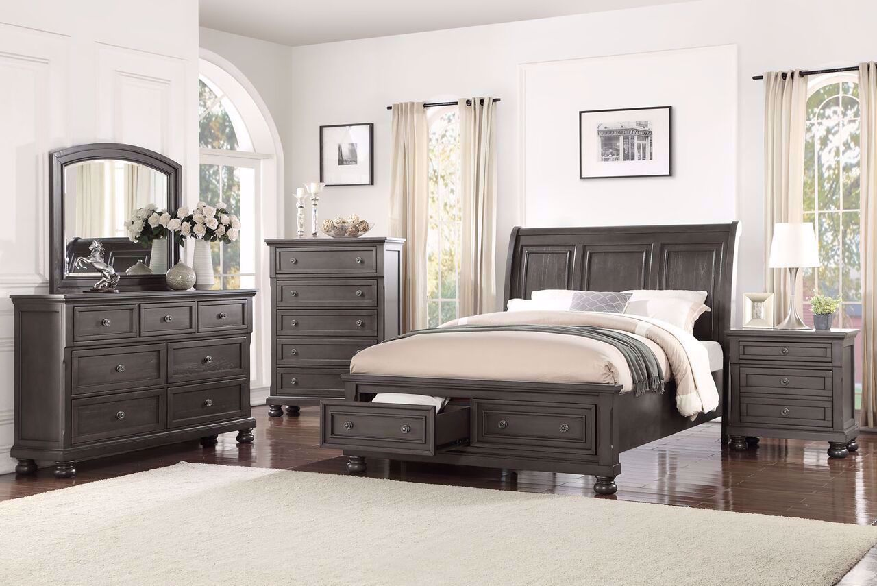 Franklin Queen Bedroom Set Grey 1061 Only 2 199 00 Queen Bedroom Set Wooden Bed Casual Bedroom Furniture Bedroom Sets Under 1750 Houston Grey Bedroom Furniture Houston Furniture Store Where Low Prices Live