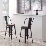 """Picture of MOON 27"""" BARSTOOL SILVER"""