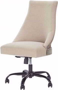 Picture of HOME OFFICE CREAM SWIVEL DESK CHAIR - H200