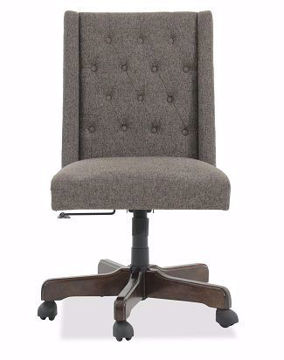 Picture of HOME OFFICE GRAPHITE SWIVEL DESK CHAIR - H200