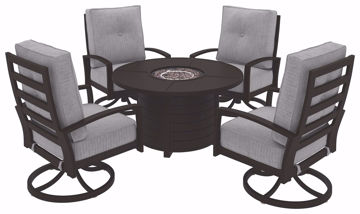 Picture of CASTLE ISLAND ROUND FIRE PIT TABLE - P414
