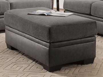 Picture of AKAN GRAPHITE STORAGE OTTOMAN - 3650