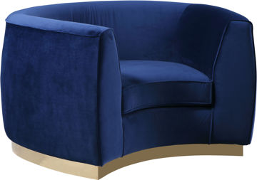 Julian Navy Velvet Chair