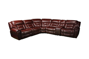 Picture of PALMER BROWN POWER RECLINING SECTIONAL - 70039