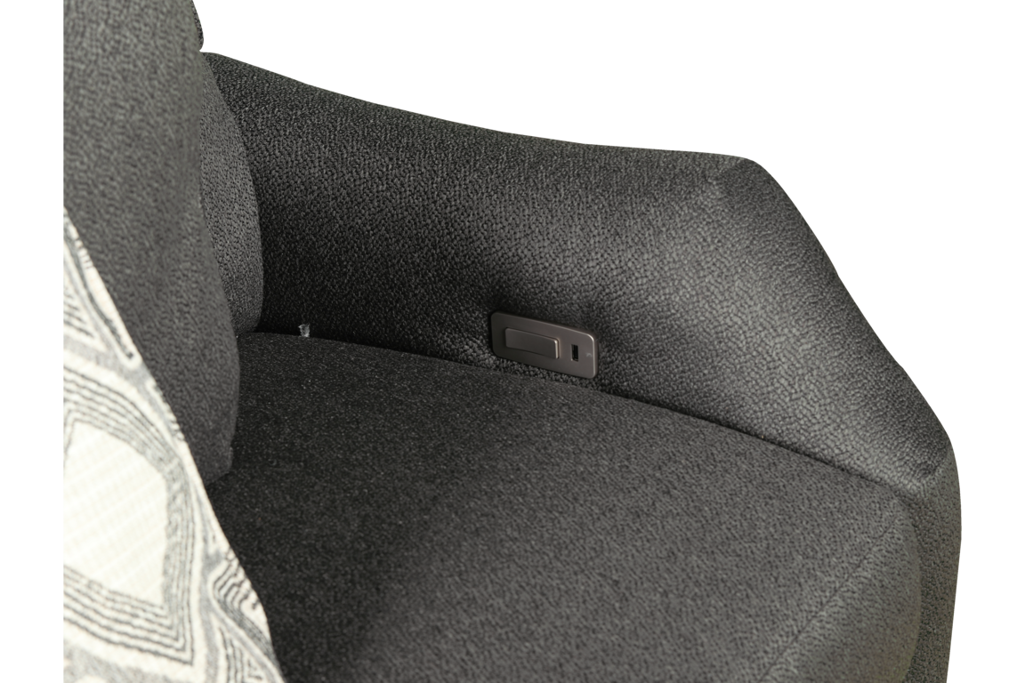 Picture of MARBELLA HI-LEG PWR LOVESEAT CHARCOAL