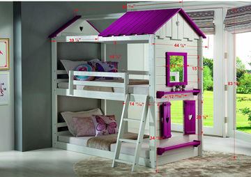 Picture of PRINCESS TWIN TWIN BUNKBED - 1570