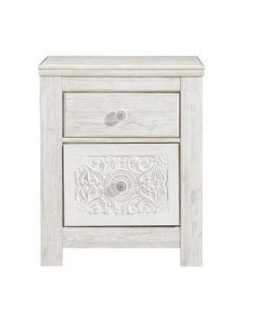 Picture of SELENA WHITE NIGHTSTAND - B181