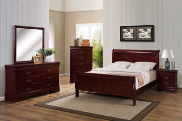 Picture of LOUIS PHILIP CHERRY KING BED - B3800