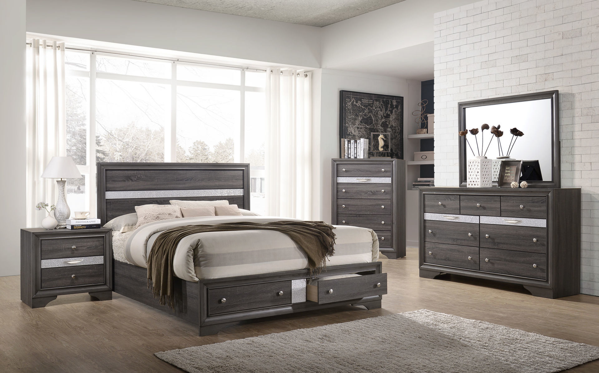 Picture of HAYWOOD KING STORAGE BED