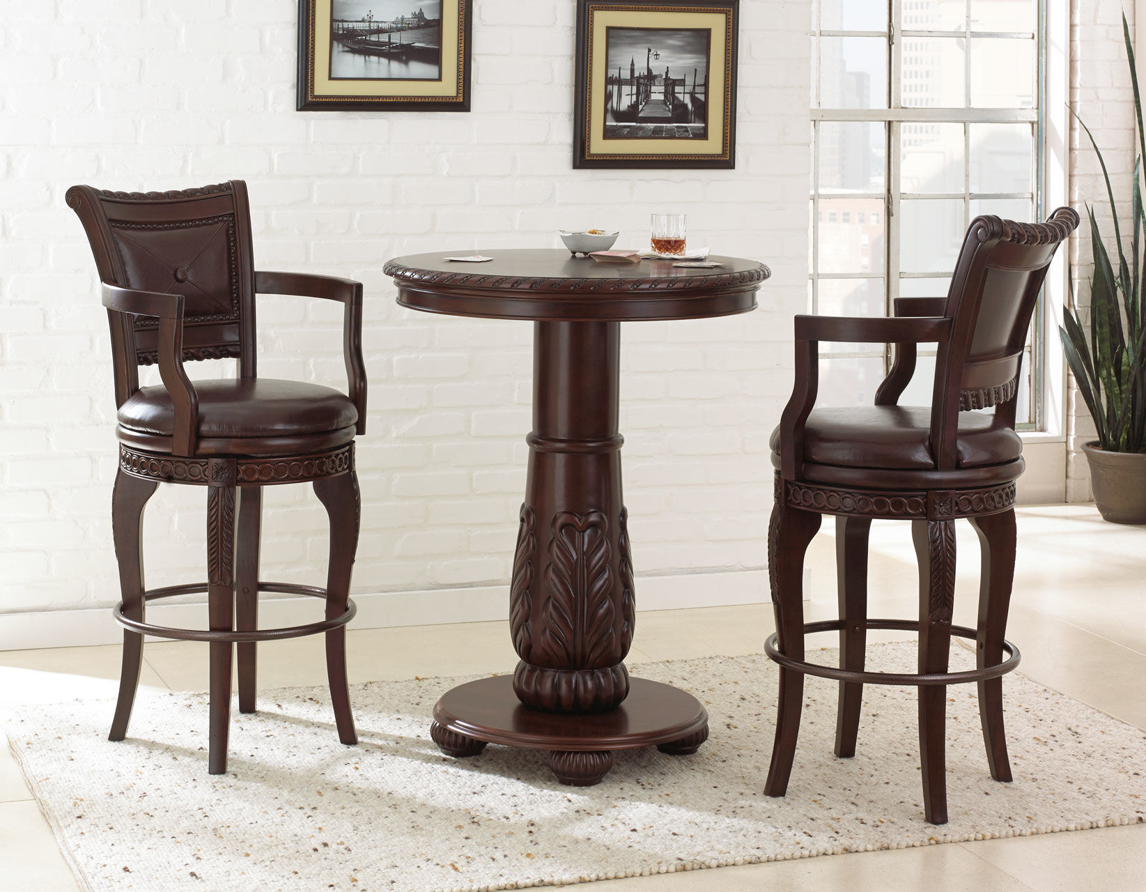 Picture of: Antoinette Pub Dining Set Ay300 Only 1 199 00 Houston Furniture Store Where Low Prices Live