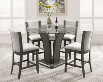Picture of CANTON GREY 5 PC COUNTER DINING SET - 1710