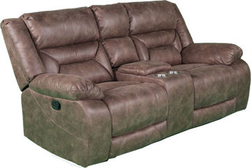 Picture of TRAILRIDE MOCHA MANUAL RECLINING LOVESEAT - 2235