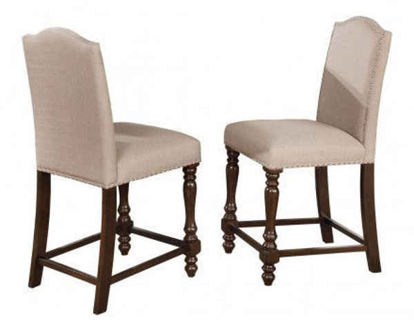 Picture of LANGLEY TAUPE COUNTER DINING STOOL - 2766