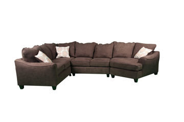 Picture of 3PC HARPER CHOCOLATE SECTIONAL - 1148