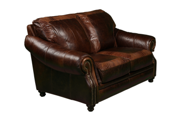 Picture of ARTIC CHESTNUT LEATHER LOVESEAT - 4919