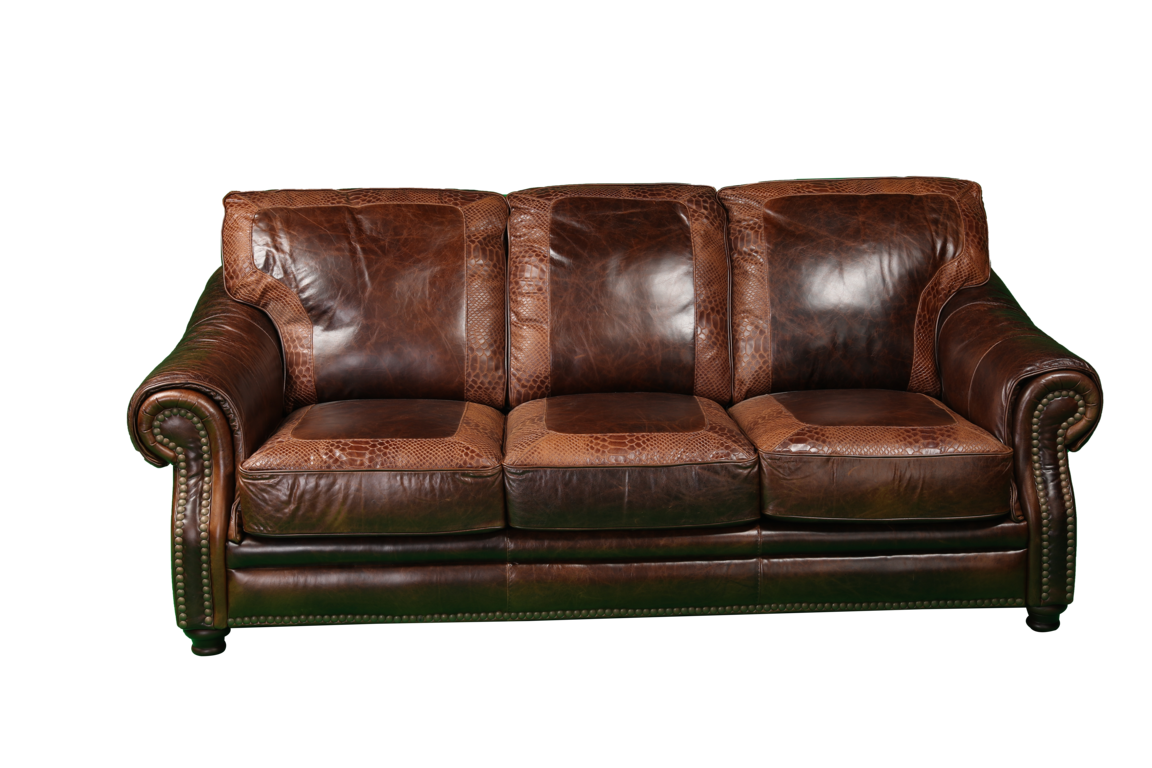 Picture of ARTIC CHESTNUT LEATHER SOFA - 4919