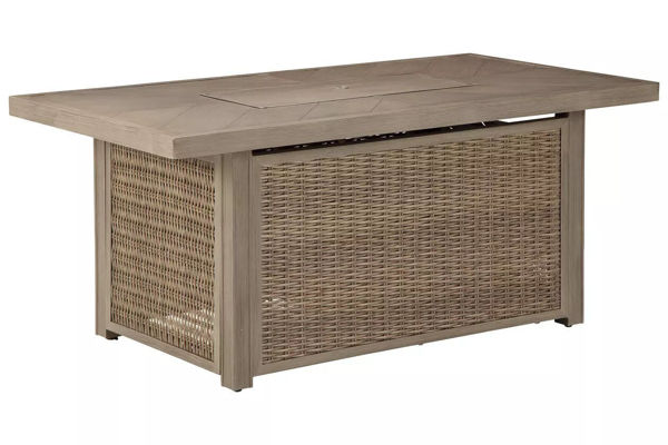 Picture of EASTCHESTER RECTANGULAR FIRE PIT TABLE - P791