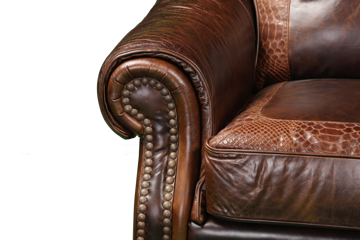 Picture of ARTIC CHESTNUT LEATHER CHAIR - 4919