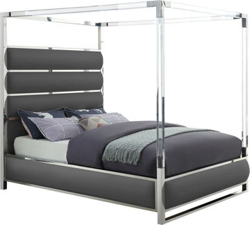Picture of ENCORE FAUX LEATHER QUEEN BED - MFI123