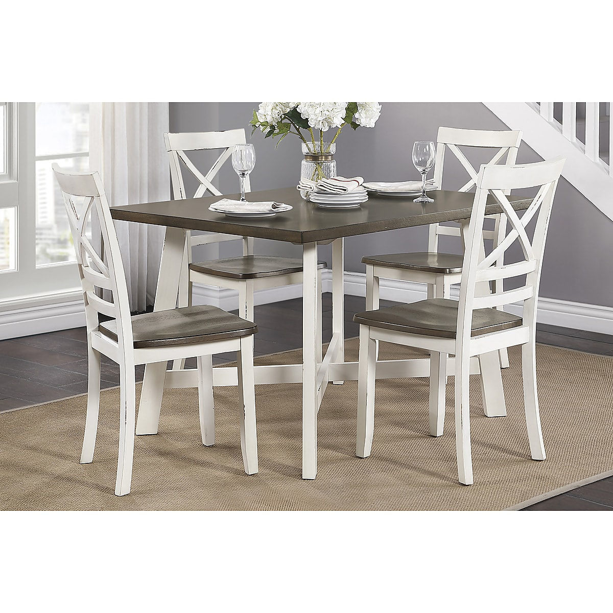 Picture of TROY 2TONE 5PK DINING SET