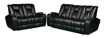 Picture of TRANSFORMER POWER RECLINING SET - BLACK - 9990