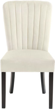 Picture of SHELBY CREAM VELVET DINING CHAIR - 725