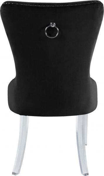 Picture of MILEY BLACK VELVET DINING CHAIR - 746