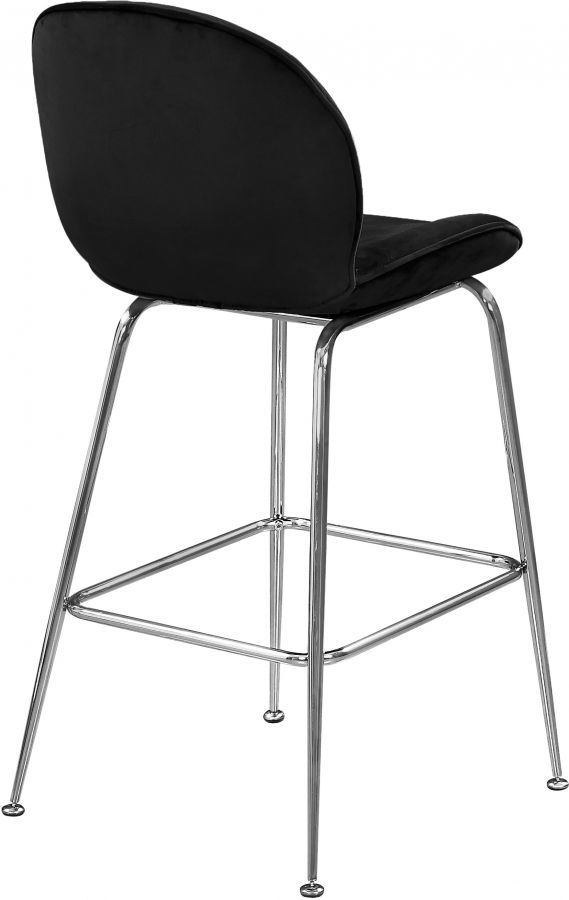 Picture of PARIS BLACK VELVET COUNTER STOOL