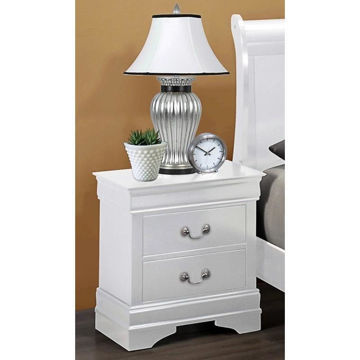 Picture of LOUIS PHILIP WHITE NIGHTSTAND - B3600