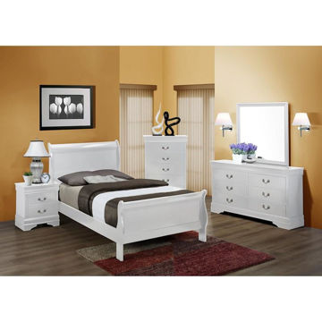 Picture of LOUIS PHILIP WHITE TWIN BED - B3600