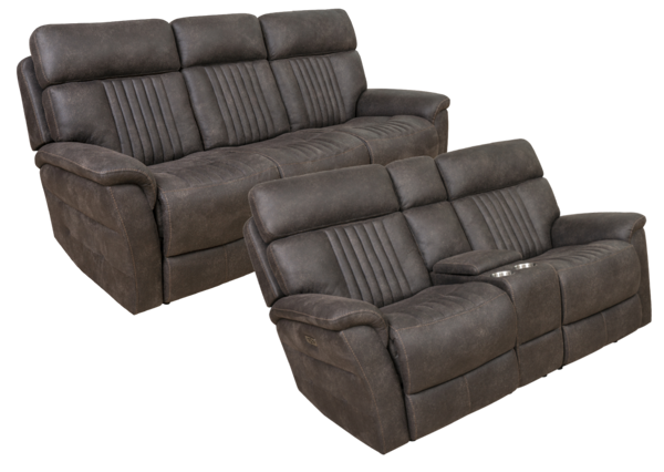 Picture of SEBASTIAN CHARCOAL POWER RECLINING LIVING - 612