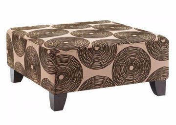 Picture of GROOVY CHOCOLATE OTTOMAN - 1025