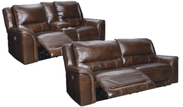 Picture of EXPLORER LEATHER RECLINING SET - U83004