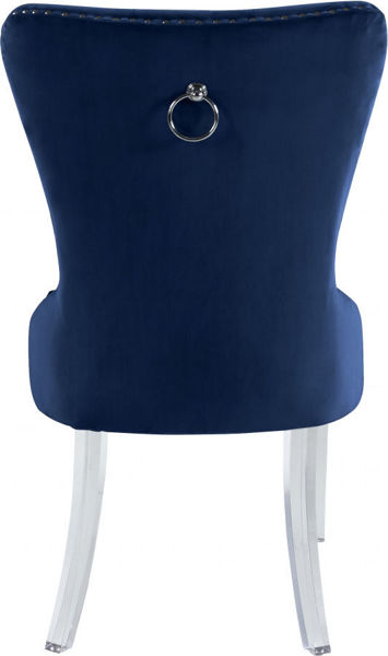 Picture of MILEY NAVY VELVET DINING CHAIR - 746