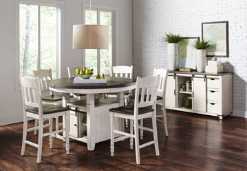 Picture of BAYRIDGE 5PC COUNTER HEIGHT DINING SET - 1706