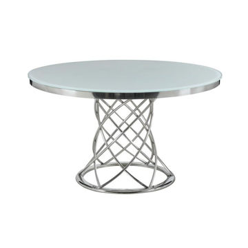 "Picture of MELROSE 51"" GLASS ROUND TABLE - 11040"