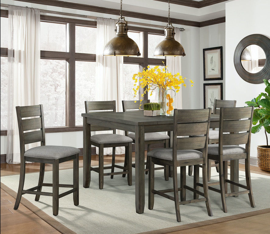 Cato Grey Counter Height Dining Table, Dining Room Table Height