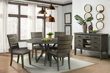 Picture of CATO GREY ROUND DINING TABLE - DCT380
