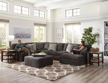 Picture of CHAMBERS SMOKE 3PC SECTIONAL - 4376