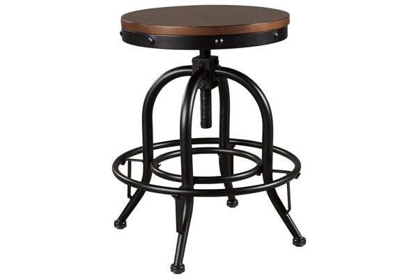 "Picture of VALEBECK SWIVEL 24"" COUNTER STOOL - D546"