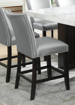 Picture of CAMILLA SILVER COUNTER STOOL - 8571