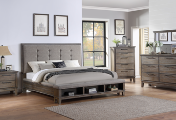 Picture of CAGNEY GREY QUEEN BEDROOM SET - NC594
