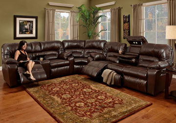 Picture of DAKOTA CHOCOLATE POWER SECTIONAL - F113